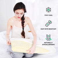 UTTU Sandwich Memory Foam Pillow Queen, Adjustable Three Layers Pillow, Supportive Pillow, Cooling Pillow, Reversible Pillow for Sleeping, Bamboo Viscose Cover - Queen
