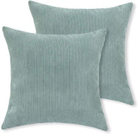 Aitliving 2 pcs Pack Solid Throw Pillow Covers Cases Cushion Pillow Covers, Ultra Soft Faux Suede Both Sides, 18 X 18 Inch, Navy Blue, 45X45cm