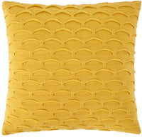 GIGIZAZA Yellow Throw Pillow Cover 18x18 100% Cotton,Decorative Knit Throw Cushion Boho Pillow Cover ,Square Knit Sweater Couch Sofa Pillow Cover 1pc