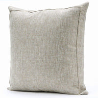 Jepeak Burlap Linen Throw Pillow Cover Cushion Case, Farmhouse Modern Decorative Solid Square Thickened Pillow Case for Sofa Couch (16 x 16 inches, Beige+Khaki Threads)