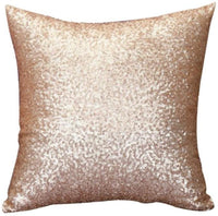 01 Solid Color Glitter Sequins Decorative Throw Pillows FDSD Sofa Bed Home Decor Pillow Case Cushion Cover Decorative Throw Pillows (A)