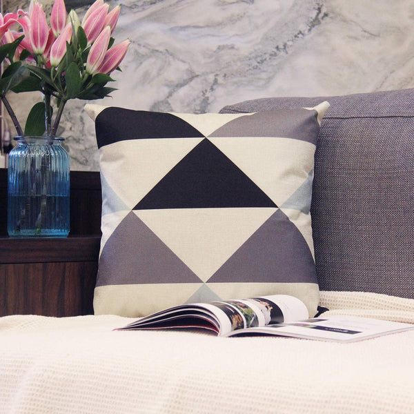 JOJUSIS Modern Geometric Throw Pillow Covers Cotton Linen Home Decor 20 x 20 inch Set of 4 Home