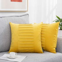 "Decorative Pillow Covers, Square Velvet Solid Cushion Throw Pillow Cover 18"" x 18"" Soft Pillowcases for Sofa Couch Bedroom Car Office Pack of 2 …"