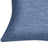 Lirex 2-Pack Linen Throw Pillow Covers, 16 x 16 Inches Flax Linen Decorative Soft Solid Color Square Linen Pillow Cover, Antistatic and Breathable (Royal Blue, 16 x 16 inch)