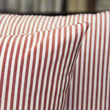 JOJUSIS Cotton Woven Striped Lumbar Throw Pillow Covers Soft Solid Farmhouse Classic Decorative Cushion Pillowcases for Sofa Bedroom Car 12 x 20 Inch Red Pack of 2