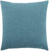 Jepeak Comfy Cotton Linen Throw Pillow Cover Rattan Weaved Pattern Cushion Case, Solid Thickened Farmhouse Modern Decorative Square Pillow Case for Sofa Couch Bed (Teal, 20 x 20 Inches)