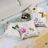 ONWAY Outdoor Garden Decoration Bee/Butterfly/Dragonfly/Ladybug Pillow Case Leaf/Lavender/Flower Decorative Throw Pillow Covers 18 x 18 Inches, Set of 4