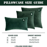 NANPIPER Set of 2 Velvet Soft Decorative Cushion Throw Pillow Covers 20x20 Inch/50x50 cm Cozy Solid Velvet Square Pillowcase Cushion Covers Olive Green for Couch and Bed
