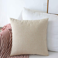 "Home Brilliant Burlap Decorative Throw Pillow Euro Sham Pillowcase Cushion Cover for Couch Outdoor Patio, 26""x26""(66cm), Light Linen"