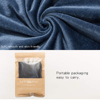 NTBAY Zippered Velvet Queen Pillowcases, 2 Pack Super Soft and Cozy Luxury Solid Color Pillow Cases, 20 x 30 Inches, Navy Blue