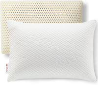 JUVEA Pillow Talalay Latex Pillow - High Loft Latex Foam Pillow with Machine Washable Cotton Cover Medium Firm Natural Latex Pillow Firm Pillows for Sleeping - Side Sleeper Pillow & Stomach Sleeper