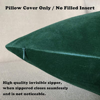 SLOW COW Velvet Soft Solid Decorative Lumbar Throw Pillow Cover Pillowcase Rectangular Pillow Cover Cushion Cover for Bed Couch Sofa 12 x 20 Inches Dark Green