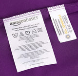AmazonBasics Light-Weight Microfiber Pillowcases - 2-Pack, Standard, Plum