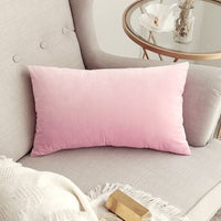 Decorative Velvet Throw Pillow Cover Soft Comfortable Pillow Cover Soild Square Cushion Case for Sofa Bedroom Car 30 x 50 cm