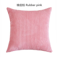 Stripe Soft Corduroy Plush Candy Color Cushion Cover Home Decor Sofa Bed Throw Pillow Custom Pillow case 35/40*40/45/50/60cm