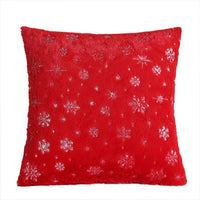 Solid Decorative Pillows Snow Snowflake Cushion Cover Plush Throw Pillow Cover Seat Sofa Embrace Pillow Case Home Decor 45x45cm