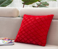 "45x45cm/17.72x17.72"" Pure Color Rhombus Cushion Cover Cotton Linen Decorative Throw Pillow Cover Seat Sofa Embrace Pillow Case"