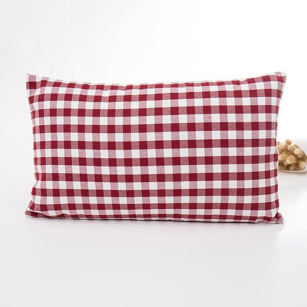 Stripe Plaid Printed Pillow Cover White Red Throw Pillow Case Cushion Cover for Sofa Home Hotel Decoration Pillowcase