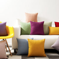 Home Decorative Solid Pillow Cover Rainbow Yellow Green Blue Purple Pillow Cushion Cover christmas pillow case