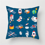 Space Universe Sun Planet Pillow Case Cartoon Space Ship Pillow Case for Home Car Hotel Hotel Bed Decoration Pillow Case 2019 ..