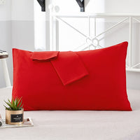 2Pcs 100% cotton Pillow Case Soft high-grade fabric Solid Color pillowcase various specifications Pillow Covers Customizable