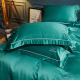 100% nature mulberry Silk pillowcase A/B version solid color Embroidery Pillow Cover healthy High-end pillow case