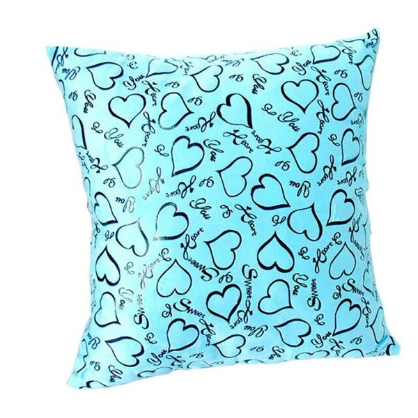2018 Vogue Pillow Covers Glitter Solid Color Throw Pillow Case Love Heart pattern Home Luxurious Pillowcases 7 Colours