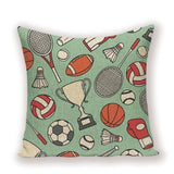 Colorful  Morocco Cushion Cover Badminton Play Sports Decor Pillow Case Square Solid Sofa Cushions Luxury Cushion Cover Cases