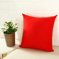Candy Color Pillow Case Solid Color Polyester Throw Pillow Case Decorative Pillowcases Cover