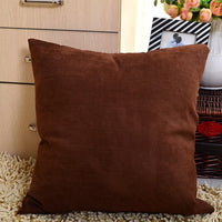 2019 Velvet Cushion Cover Soft Sofa Waist Throw Decorative Pillows Solid Color Pillow Covers for Home Living Room Seat 45 x 45cm