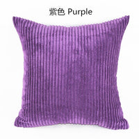 Stripe Soft Corduroy Plush Plaid Solid Color Cushion Cover 40*40cm Home Decor Sofa Bed Throw Pillow Case Custom 35 45x45 50 60
