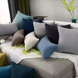 Solid Sofa Cushion cover 30x50cm 40x40cm 45x45cm 50x50cm 60x60cm Home Deactivate Throw Pillow Cover for Chair Car