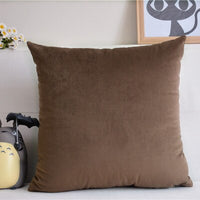 Home Decorative Sofa Throw Pillows Flannel cushion cover sofa cushion set solid color pillowcase cushion cover pillowcase