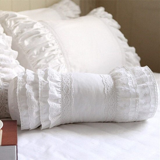 Cute candy cushions home decor ruffle layer lace decorative pillows princess throw pillows elegant bedding sofa cushion cover