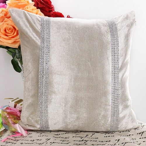 45X45cm Flannel Fabric Diamond Pillow Cover Cushion Cover Shining Home Decor Pillow Decorative Throw Pillows Pillow Case