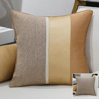 Avigers Luxury Modern Cushion Cover Linen Pillow Case Patchwork Gold White Black Solid Home Decorative Sofa Throw Pillow Cover