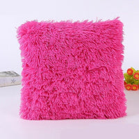 Solid Soft Plush Faux Fur Cushion Cover Home Decorative Shaggy Plush Throw Pillow Cases For Sofa Car Chair Hotel Home Decoration