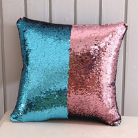 DIY Mermaid Sequin Sofa Throw Cushion Cover Magical Shining Smile Decorative Color Changing Reversible Patchwork Pillow case