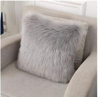 soft fluffy plush cushion cover decorative warm pillowcase square throw pillow cover solid color pillow case