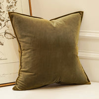 Avigers Luxury Velvet Soft Cushion Cover Color Pillow Cover Home Decorative Pillow Case for Sofa Navy Blue Gray White Yellow