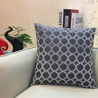 KISS QUEEN chenille fabric sofa cushion cover solid throw pillow cover decorative pillow case for car home