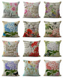 10pcs cushion covers hydrangea flower mucic note cheap pillow cases