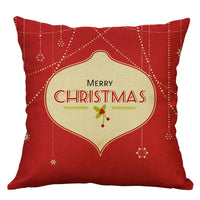 Christmas Pillow Cases Linen Sofa Car Cushion Cover Home Decor Throw Pillow Case