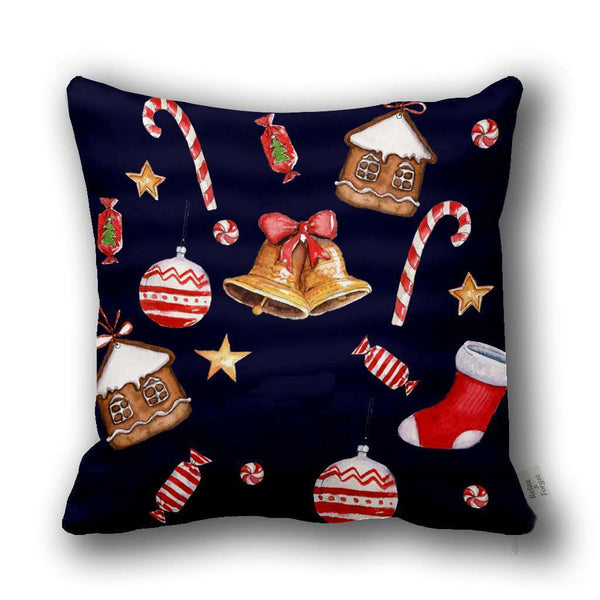 Merry Christmas Motife Pillow Case Gift Square