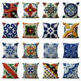 set of 12 pillow cases wholesale Azulejo Mexican talavera