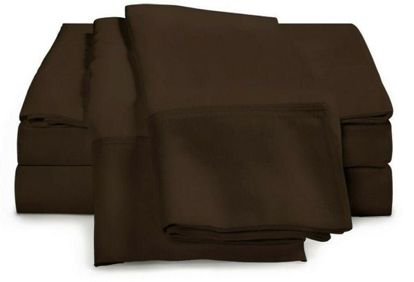 Home Collection 100% Microfiber Sheet Set ~ Full ~ Chocolate **NEW**