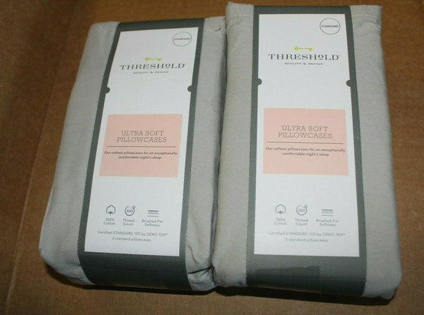 300 Thread Count Ultra Soft Solid Pillowcase 2 Pairs 4 Cases New