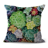 set of 4 pillow cases Cactus succulents flower cushion covers