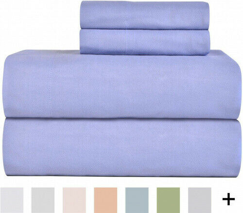 (Twin X-Large, Blue) - Celeste Home Ultra Soft Flannel Sheet Set with