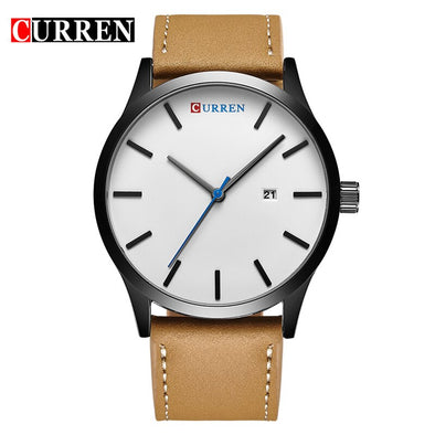 New Simple Style Calendar Men Watches CURREN  Fashion Leather Strap Quartz Wristwatch Casual Business Male Clock Montre Homme